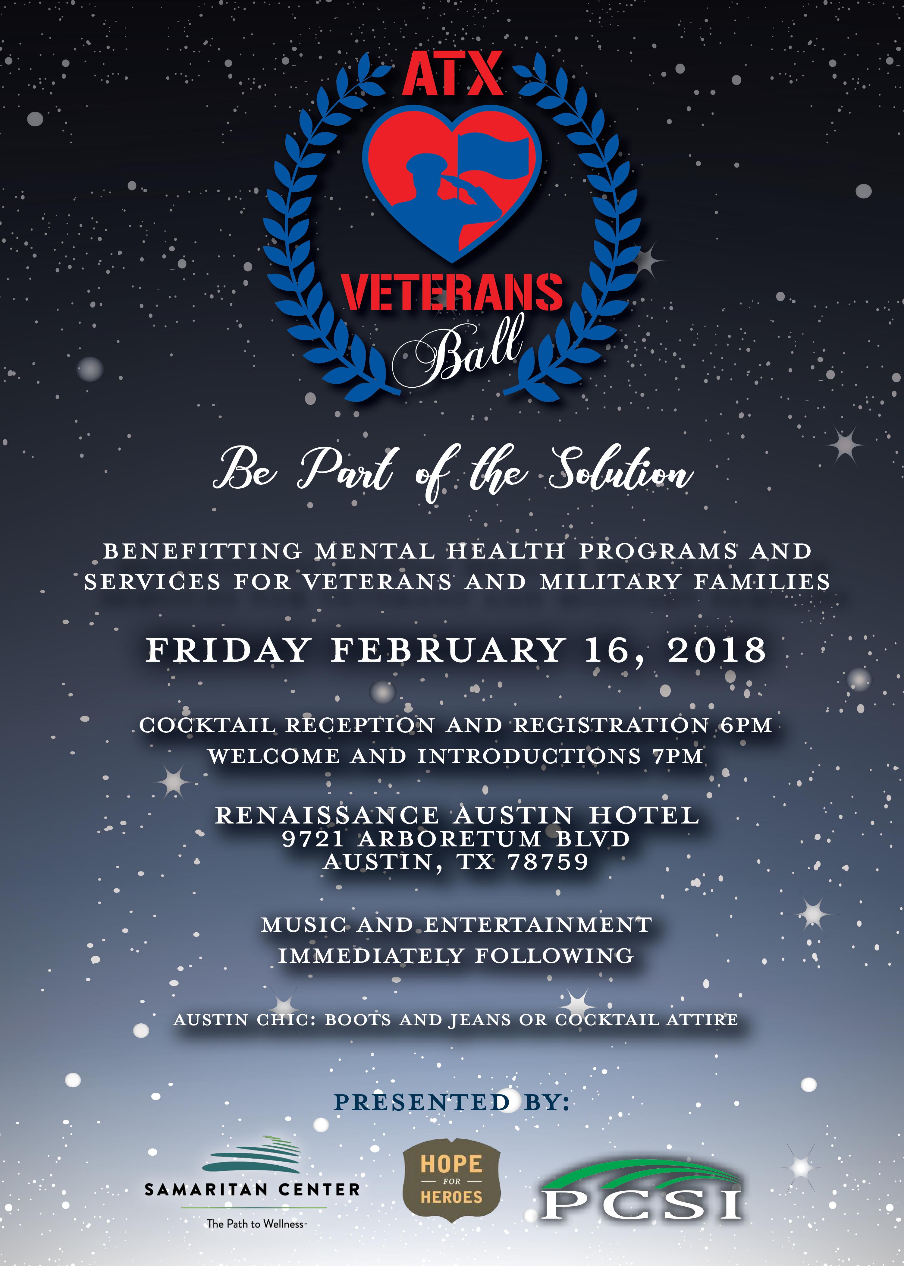 Samaritan Center 2018 ATX Veterans Ball