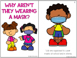 putting a mask on my toys